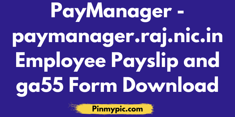 PayManager - paymanager.raj.nic.in Employee Payslip and ga55 Form Download